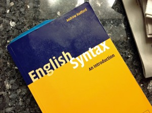 My favorite syntax resource, Radford's English Syntax: An Introduction.