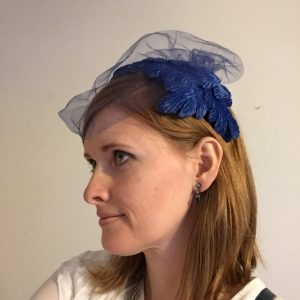 My inheritance, purchased at the family estate sale. Because what better memento than an adorable blue hat?