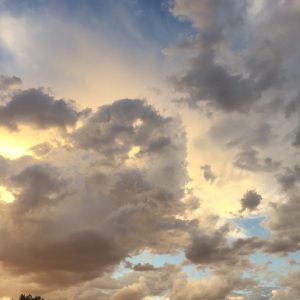 Clouds, because I can. (Also, light and shadow in beautiful interplay.)