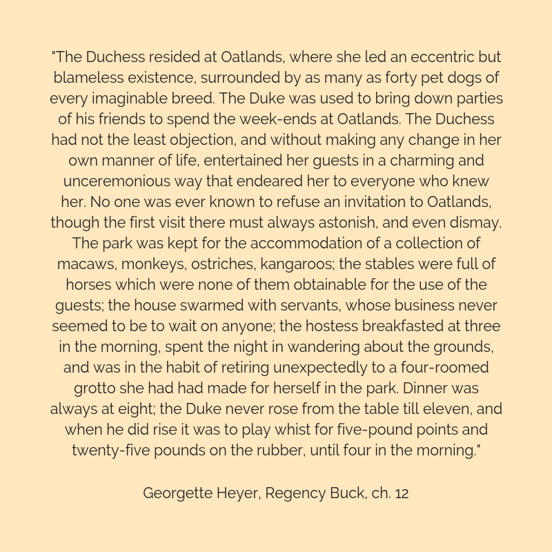 Heyer quote about the Duchess of York