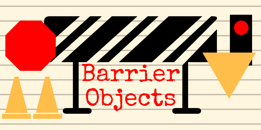 Barrier Objects title plate