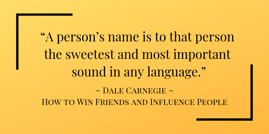 Dale Carnegie encourages Vocative Case