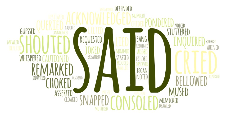 word cloud dialogue tags