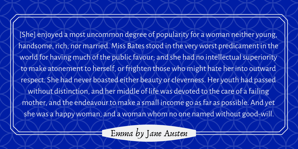 Character description of Miss Bates from Jane Austen's Emma