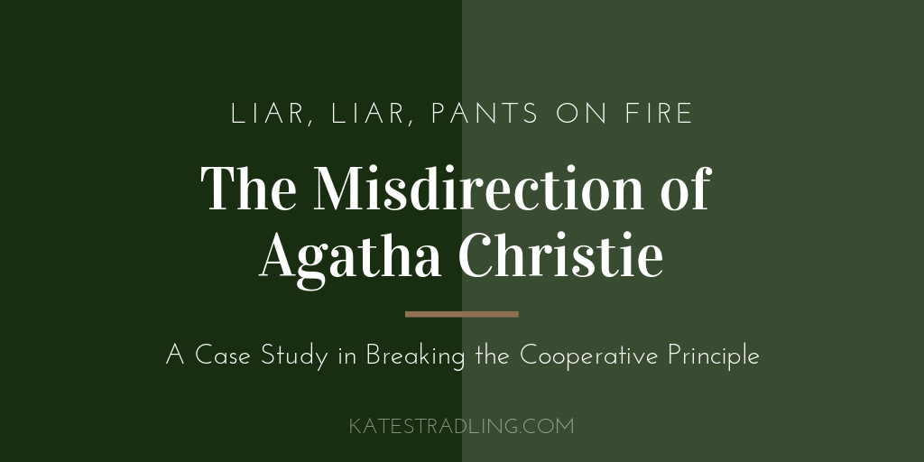 Title Plate: The Misdirection of Agatha Christie