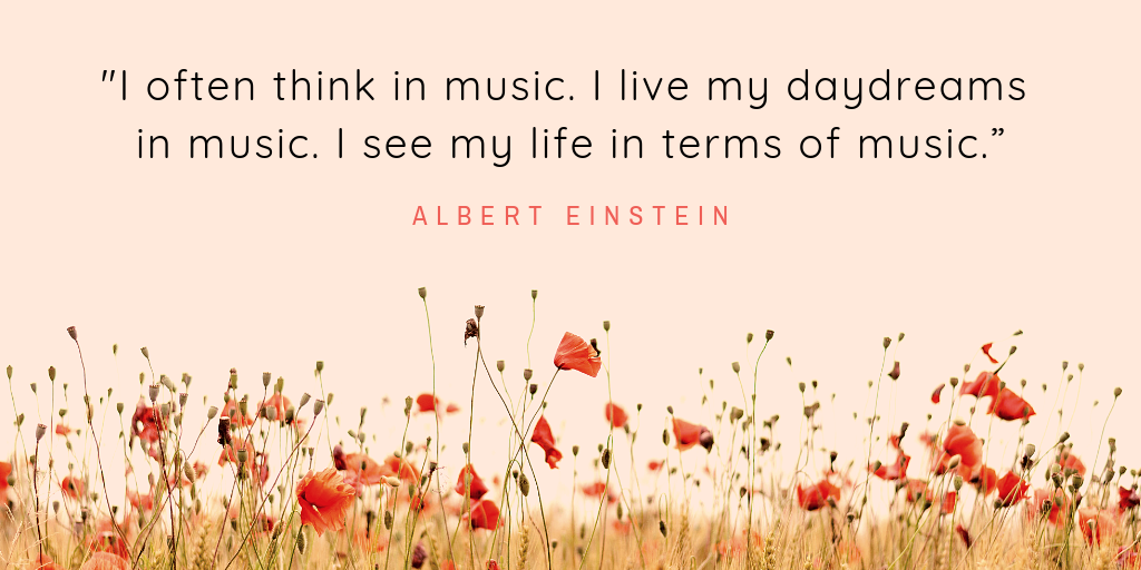 Albert Einstein on music