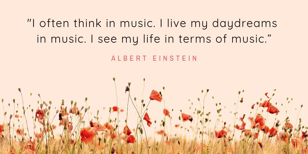 Albert Einstein on music
