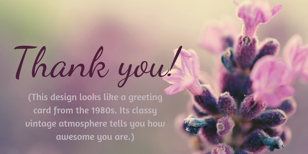 First of my project updates: Thank you! May this classy purple flower convey how awesome you are.