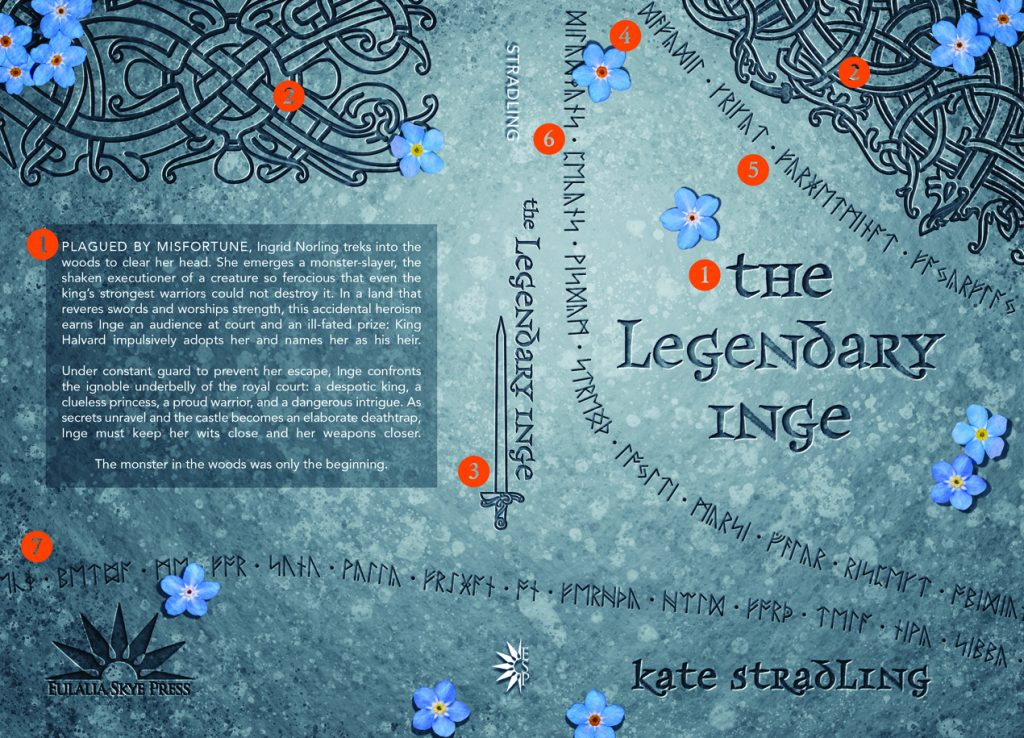 Front and back cover: The Legendary Inge, with design features tagged by number