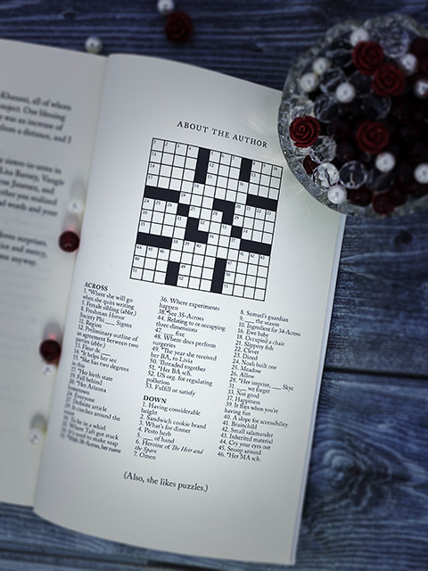 About the Author crossword in the paperback of Kate's new release, The Heir and the Spare